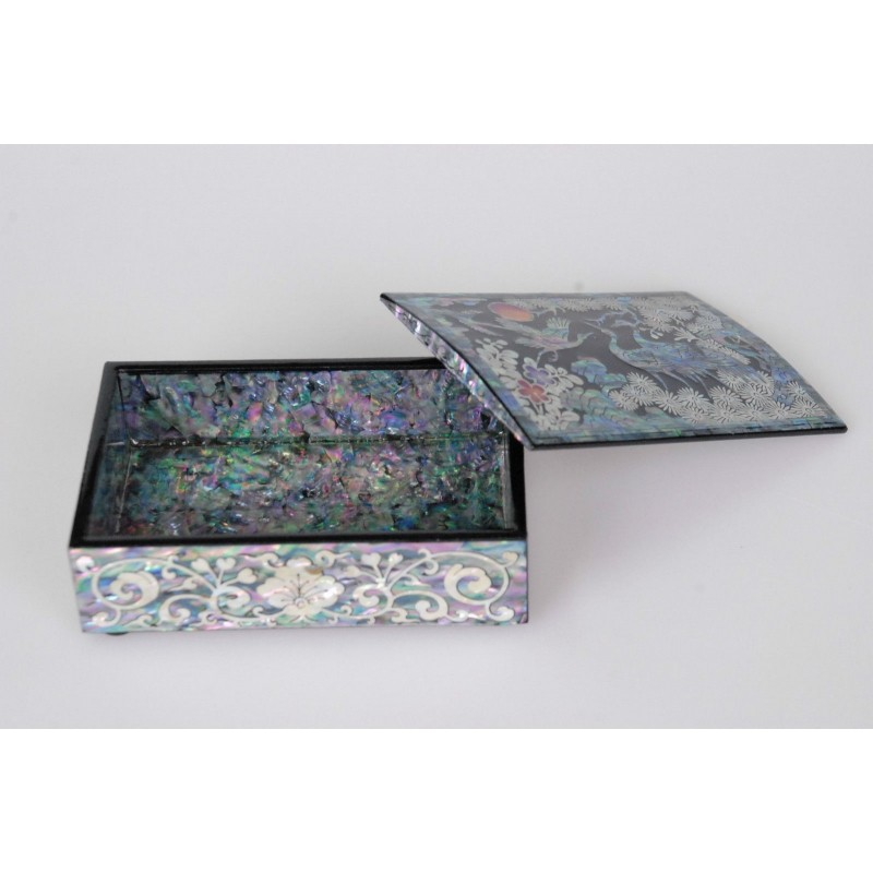 Business Card Case Korean Traditional Mother Of Pearl Crane Design